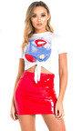 Nika Slinky PVC Bodycon Skirt Thumbnail