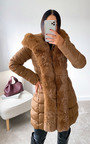 Nikay Faux Fur Padded Coat Thumbnail