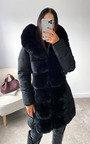 Nikay Faux Fur Padded Coat Thumbnail