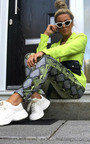Nina High Waist Snake Trousers  Thumbnail