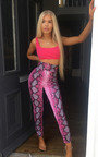 Nina High Waist Snake Trousers  Thumbnail