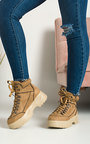 Nina Lace Up Flat Boots Thumbnail