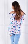 Nina Off Shoulder Floral Printed Top Thumbnail
