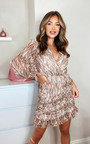 Nina Printed Mini Dress Thumbnail