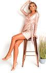 Nina Snake Print Metallic Mini Dress Thumbnail
