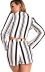 Nina Striped Blazer Cropped Co-ord Thumbnail