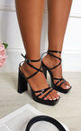 Noa Strappy Block High Heels  Thumbnail