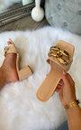Noora Slip On Chain Detail Block Heel Thumbnail
