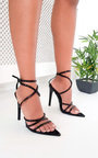 Nora Strappy Pointed High Heels  Thumbnail