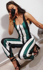 Nora Striped Wide Leg Jumpsuit Thumbnail