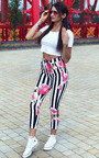 Norie Floral Slim Trousers Thumbnail