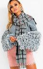 Nova Shaggy Knit Cropped Jacket  Thumbnail