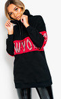NY New York Embellished Hooded Jumper Thumbnail