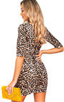 Nya Faux Suede Leopard Print Dress Thumbnail