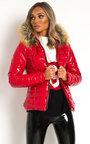 Olga Padded Faux Fur Hood Puffer Jacket Thumbnail