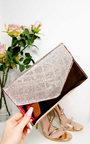 Olivia Diamante Embellished Metallic Clutch Bag Thumbnail
