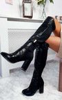 Olivia Knee High Heeled Boots Thumbnail