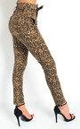 Olivia Tie Waist Leopard Print Jeans Thumbnail