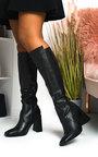 Ollie Knee High Heeled Boots Thumbnail