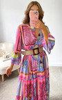 Omy Printed Midi Dress Thumbnail