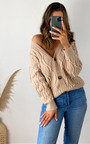 Opal Pearl Embellished Knitted Cardigan Thumbnail