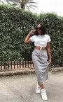 Opal Satin Midi Skirt Thumbnail