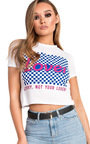 Orla Graphic Crop Top Thumbnail