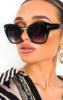 Orla Oversized Square Lens Sunglasses Thumbnail
