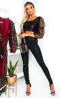 Orlagh Faux Leather Stripe Leggings Thumbnail