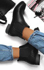 Paige Faux Leather Snake Skin Ankle Boots Thumbnail