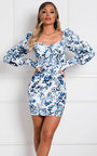 Paige Floral Bodycon Dress Thumbnail