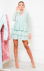 Paige Frill Embroidered Dress Thumbnail
