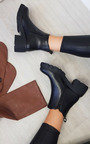 Paisley Heeled Chunky Ankle Boots Thumbnail