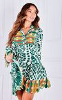 Paolo Button Up Printed Dress Thumbnail