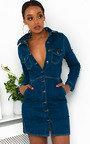 Paris Button Up Denim Dress Thumbnail