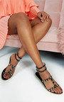 Paula Studded Perspex Sandals Thumbnail