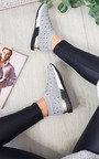 Pavla Diamante Slip On Sock Trainers Thumbnail