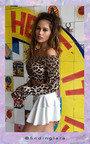 Penelope Bardot Long Sleeved Frill Crop Top Thumbnail
