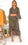 Pennie Croc Print Maxi Dress Thumbnail