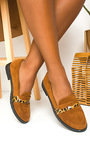 Pennie Faux Suede Brogue Sandals Thumbnail