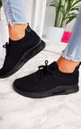 Pennie Lace Up Sock Trainer  Thumbnail