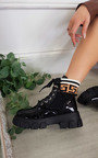Penny Lace Up Chunky Printed Boots Thumbnail
