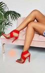 Penny Lycra Perspex Crossover Heels Thumbnail