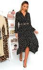 Penny Printed Frill Maxi Dress Thumbnail