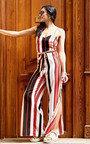 Perri Stripe Tie Waist Wide Leg Jumpsuit Thumbnail