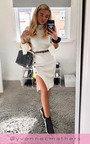 Perrie Side Split Ribbed Jumper Dress Thumbnail