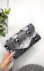 Perrie Snake Print Envelope Clutch Bag Thumbnail