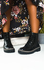 Perry Chain Detail Lace Up Ankle Boots Thumbnail