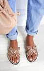 Petra Embellished Slip On Sandals Thumbnail