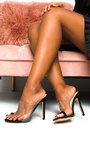 Petra Perspex Strap High Heels  Thumbnail